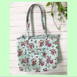 Vera Bradley Small Water Bouquet Tote Bag